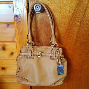 Etienne Aigner camel tan purse